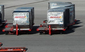 Iberia Handling containers in Madrid airport