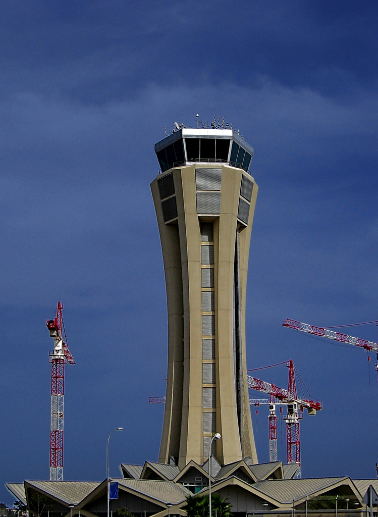 Málaga ATC tower during the works