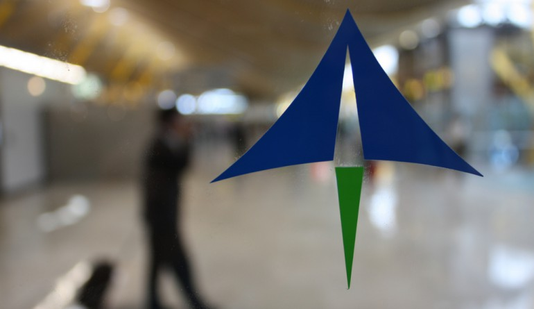 Aena's logo at Madrid Airport / David