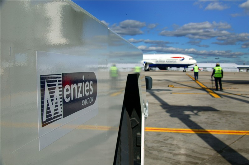 Menzies equipment at the platform