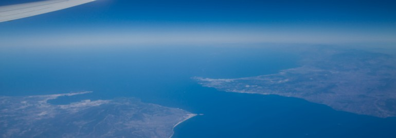 Strait of Gibraltar view from a Ryanair's plane / flickr.com