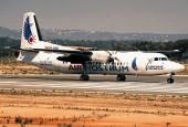Air Nostrum Fokker 50 in Faro (FAO / LPFR) Portugal, 1997