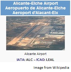 Alicante-Elche Airport / Wikimedia Commons