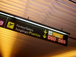Sign at a Spanish airport