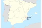 Alicante-Elche in the map of Spain