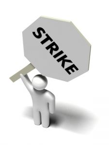 Strike of Swissport employees