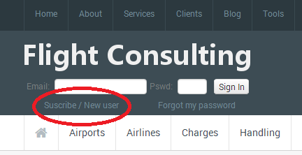 Suscribe to Airport Statistics