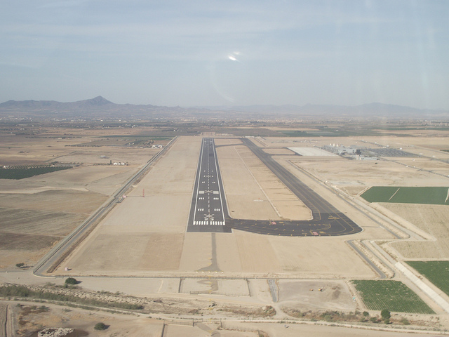 Corvera airport being constructed in June 2012 / Adam Hinett
