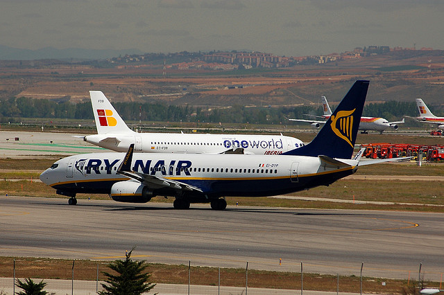 Ryanair and Iberia in competition