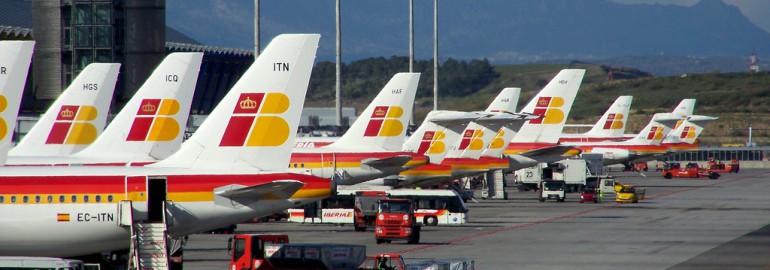 Iberia aircrafts at Madrid airport / jmiguel rodriguez