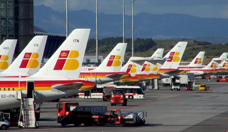 Iberia aircrafts at Madrid airport / jmiguel rodriguez