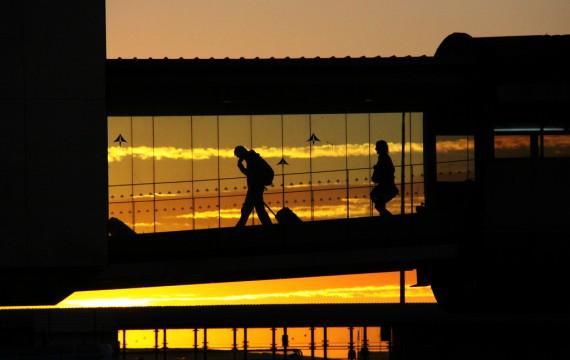 Aena logos at Barcelona airport / Lali Masriera