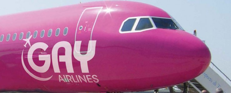 Gay Airlines pink plane from their Facebook page
