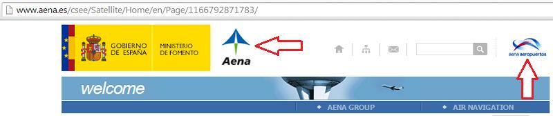 Old logos in aena.es