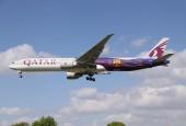 Boeing B773 Qatar In FC Barcelona At London Heathrow by David Osborn - Flickr