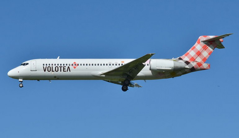 Boeing 717-200 Volotea Airlines EI-EXI by russavia / Wikimedia Commons