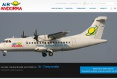 Air Andorra's web site screenshot