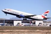 A British Airways 737-400 operating in Alicante