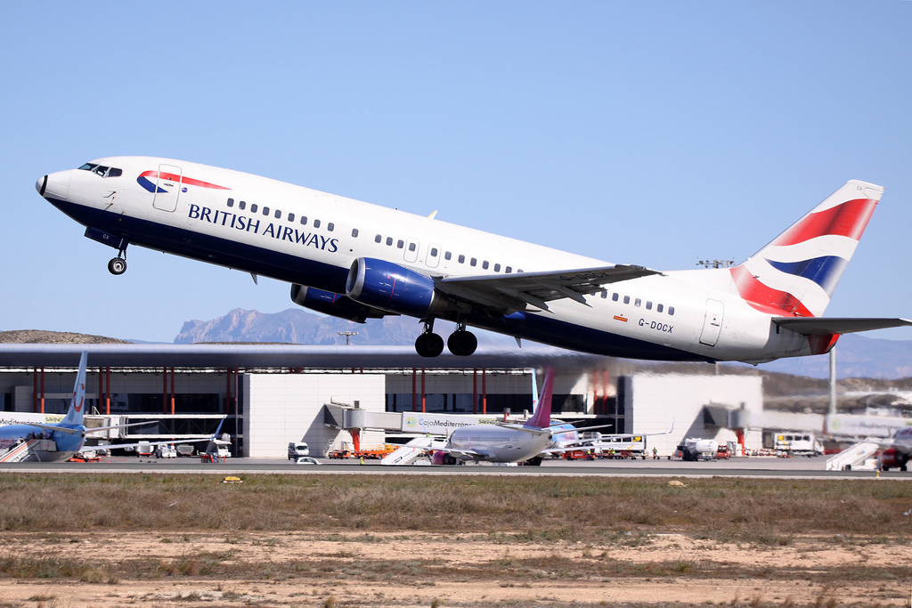 A British Airways 737-400 operating in Alicante