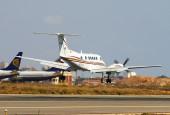 EC-IUX, Beech Super King Air B200, (cn BB-1840), TAS Transportes Aéreos del Sur, landing at San Javier by Fotero - Flickr