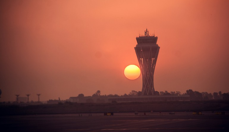 Barcelona ATC tower at sunrise by Juanedc - Flickr
