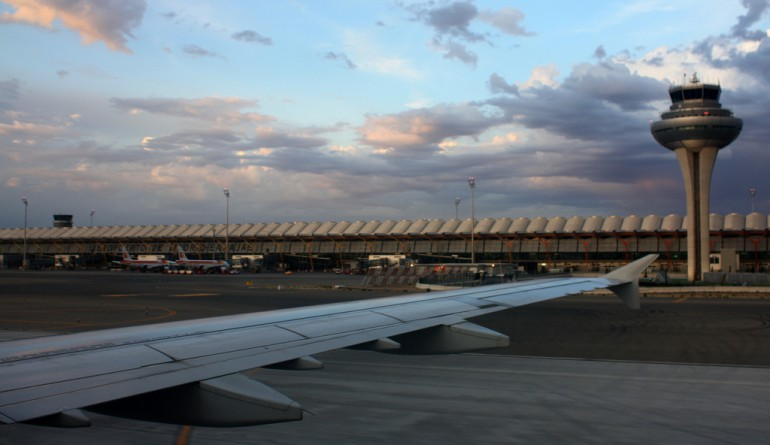 Landing at Madrid Barajas Airport by David - Flickr